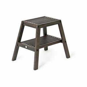 Černá stolička z dubového dřeva Wireworks Slatted Stool