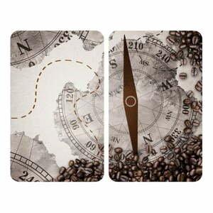 Sada 2 skleněných krytů na sporák Wenko Compass,52x30cm