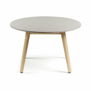 Konferenční stůl se světle šedou deskou La Forma Glow,Ø65cm