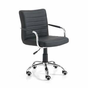 Černá kancelářská židle na kolečkách Tomasucci Milko