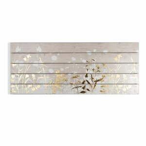 Dřevěný obraz Graham & Brown Metallix Wood Meadow, 100 x 40 cm