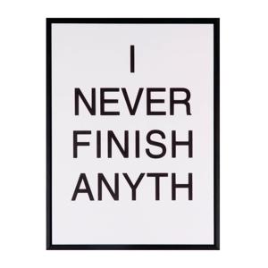 Obraz sømcasa Never Finish, 30 x 40 cm