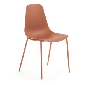 Tmavě oranžová jídelní židle La Forma Wassu