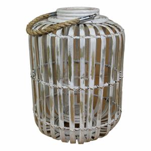 Šedá lucerna z bambusu HSM collection