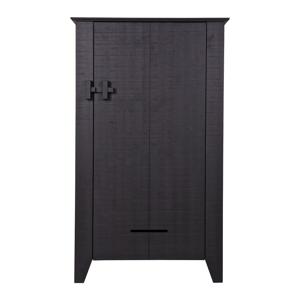 Černá dřevěná skříňka WOOOD Gijs
