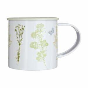 Bílý plechový hrnek s květinami Premier Housewares Finchwood,350ml
