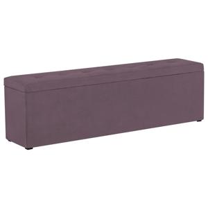 Fialový otoman s úložným prostorem Windsor & Co Sofas Astro, 160 x 47 cm