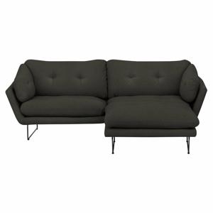 Set šedohnědé třímístné pohovky a sedacího pufu Windsor & Co Sofas Comet