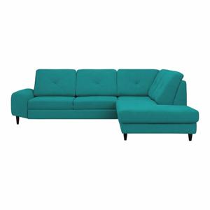 Tyrkysová rohová rozkládací pohovka Windsor & Co Sofas, pravý roh Beta