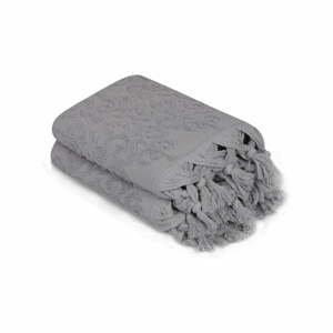 Sada 2 šedých ručníků Madame Coco Bohème, 50 x 90 cm