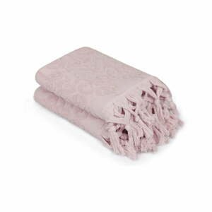 Sada 2 pudrově růžových ručníků Madame Coco Bohème, 50 x 90 cm