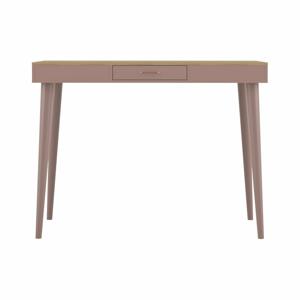 Růžový barový stolek v dekoru dubového dřeva TemaHome Horizon