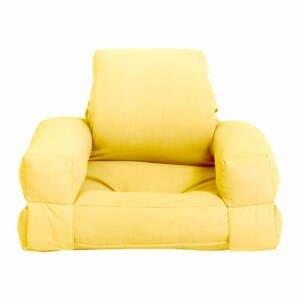 Dětské rozkládací křesílko Karup Design Mini Hippo Yellow