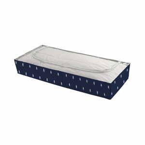 Tmavě modrý úložný box pod postel Compactor Kasuri Range