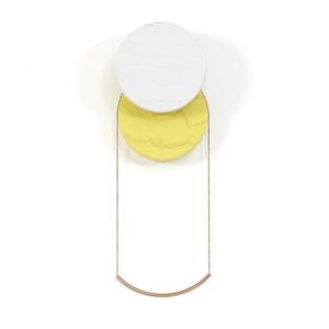Šedo-žlutý nástěnný háček HARTÔ Lou