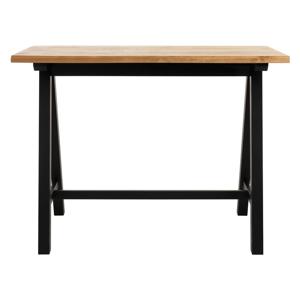 Barový stolek ze dřeva bílého dubu Unique Furniture Oliveto,71x140cm