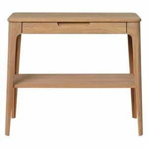 Konzolový stolek ze dřeva bílého dubu Unique Furniture Amalfi,90x37cm