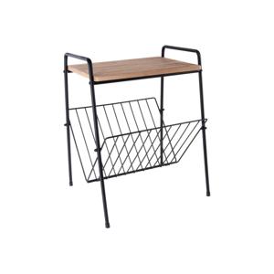 Příruční stolek na časopisy z kovu a dřeva Leitmotiv