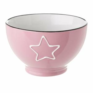 Růžová keramická miska Unimasa Star, 580 ml