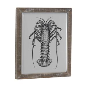 Dekorativní cedule v dřevěném rámu Geese Crustacean