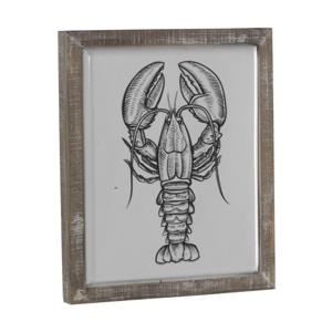 Dekorativní cedule v dřevěném rámu Geese Lobster