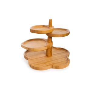 Čtyřpatrový servírovací podnos z bambusu Bambum Mateja