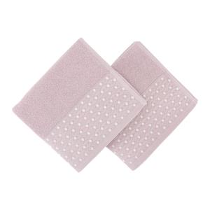 Sada 2 starorůžových ručníků na ruce Ulla