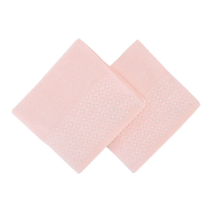 Sada 2 pudrových ručníků na ruce Ulla