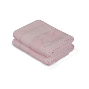 Sada dvou růžových ručníků Baroque, 90x50cm