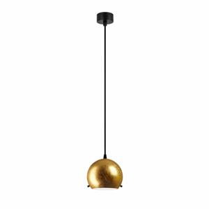 Stropní svítidlo ve zlaté barvě s černým kabelem Sotto Luce Myoo