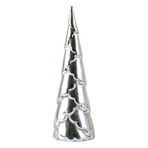 Dekorativní stromek ve stříbrné barvě KJ Collection 20, výška5 cm