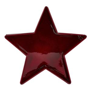 Červený servírovací tác ve tvaru hvězdy KJ Collection, 19 cm