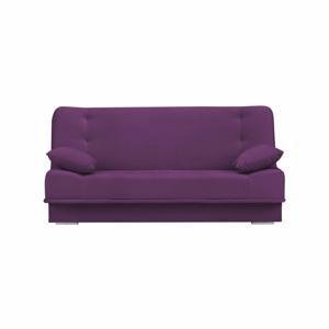 Tmavě fialová třímístná rozkládací pohovka s úložným prostorem Melart Andre