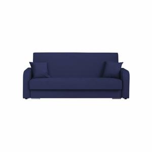 Tmavě modrá třímístná rozkládací pohovka s úložným prostorem Melart Henri