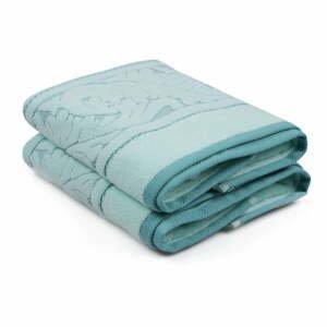 Sada 2 mentolově zelených bavlněných ručníků Sultan, 50 x 90 cm
