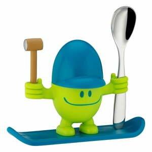 Modro-zelený stojánek na vajíčko s lžičkou WMF Cromargan® Mc Egg