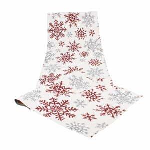 Šedo červený běhoun Dakls Winter, 33 x 140 cm