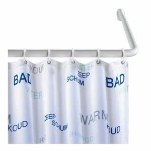 Bílá univerzální rohová tyč na sprchový závěs Wenko White, ø 2 cm