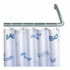 Univerzální rohová tyč ve stříbrné barvě na sprchový závěs Wenko Silver, ø 2 cm