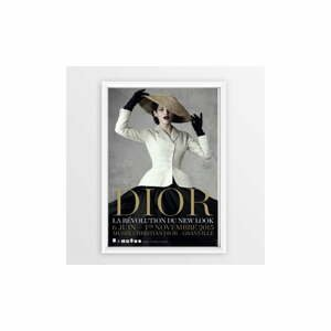 Nástěnný obraz v rámu Piacenza Art Dior With Hat, 23 x 33 cm