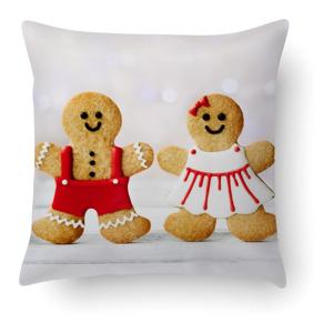 Polštář Crido Consulting Gingerbread Love, 40 x 40 cm