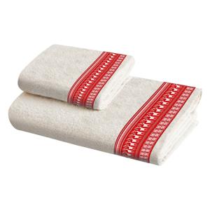 Sada 2 bavlněných ručníků Crido Consulting Scandi Deer