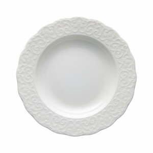 Bílý porcelánový talíř Brandani Gran Gala, ⌀22cm