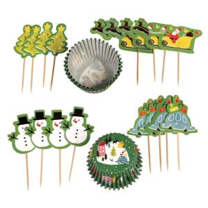 Set na pečení muffinů s vánočním motivem Rex London Wonderland