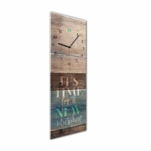 Nástěnné hodiny Styler Glassclock Adventure, 20 x 60 cm