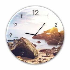 Nástěnné hodiny Styler Glassclock Stones, ⌀ 30 cm