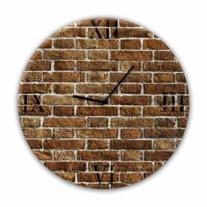 Nástěnné hodiny Styler Glassclock Red Brick, ⌀ 30 cm
