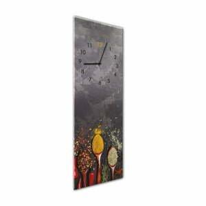 Nástěnné hodiny Styler Glassclock Spoons, 20 x 60 cm
