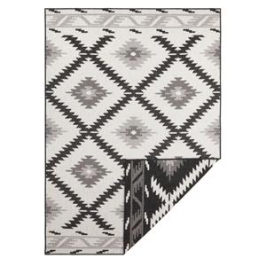 Černo-krémový venkovní koberec Bougari Malibu, 170 x 120 cm