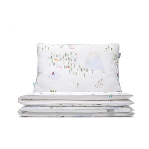 Dětské bavlněné povlečení na jednolůžko Mumla Maps, 100x135cm